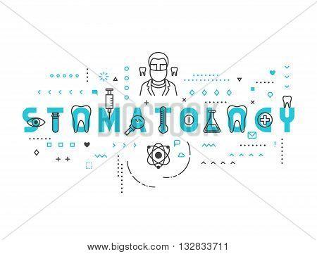 Medicine concept stomatology. Creative design elements for websites, mobile apps and printed materials. Medicine banner design