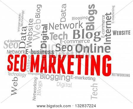 Seo Marketing Represents Search Engines And Advertising