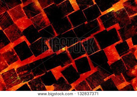 hot red fire burn wood abstract pattern background