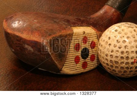 Fancy Driver And Old Golf Ball
