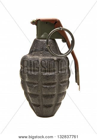 Old Grenade isolated on a white background