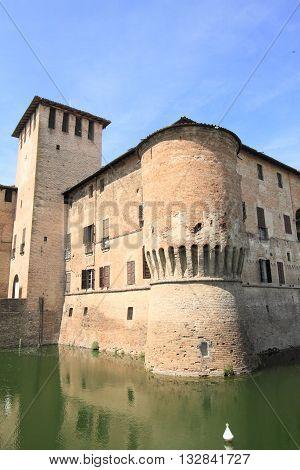 historic fortress of Fontanellato near Parma, Italy