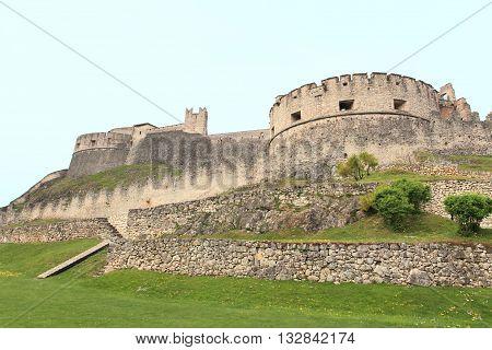 Castel Beseno, landmark medieval castle in Trento, Italy