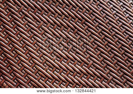 grunge synthetic rattan weave used for texture