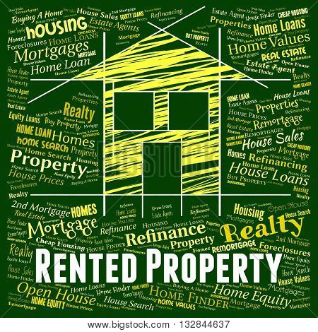 Rented Property Represents Apartments House And Rental