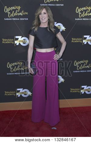LOS ANGELES - JUN 2:  Felicity Huffman at the Television Academy 70th Anniversary Gala at the Saban Theater on June 2, 2016 in North Hollywood, CA