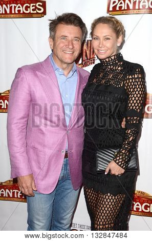 LOS ANGELES - MAY 31:  Robert Herjavic, Kym Johnson at the 42nd Street Play Opening at the Pantages Theater on May 31, 2016 in Los Angeles, CA