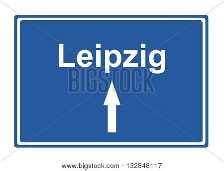 Leipzig street sign Highway road trip Holiday