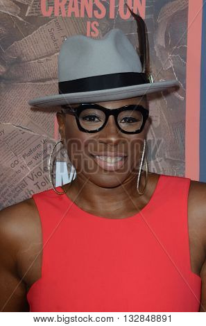 LOS ANGELES - MAY 10:  Aisha Hinds at the All The Way LA Premeire Screening at the Paramount Studios on May 10, 2016 in Los Angeles, CA