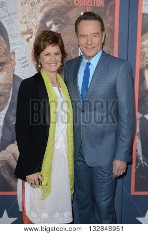 LOS ANGELES - MAY 10:  Melissa Leo, Bryan Cranston at the All The Way LA Premeire Screening at the Paramount Studios on May 10, 2016 in Los Angeles, CA