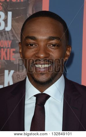 LOS ANGELES - MAY 10:  Anthony Mackie at the All The Way LA Premeire Screening at the Paramount Studios on May 10, 2016 in Los Angeles, CA