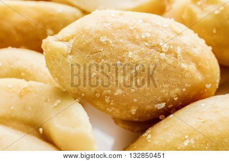 a lot of salty peanuts macro closeup