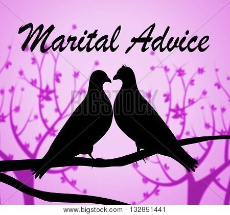 Marital Advice Indicates Marriage Info And Help