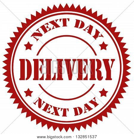 Red stamp with text Next Day Delivery,vector illustration