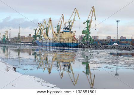 SAINT PETERSBURG, RUSSIA - FEBRUARY 17, 2016: The ship