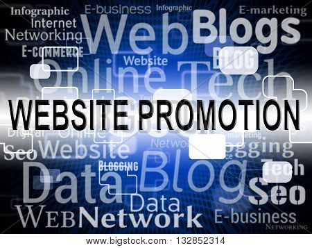 Website Promotion Represents Sites Www And Closeout