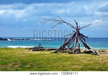 Sunny day on Pebbly beach, NSW Australia