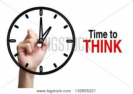 Time To Think Concept