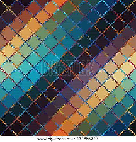 Seamless background pattern. Diagonal plaid geometric pattern.