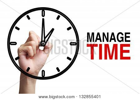 Manage Time Concept