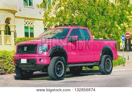 Ford FX-4 Dubai United Arab Emirates April 7 2014 in the street soft focus