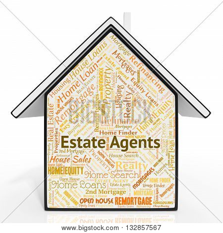 Estate Agents Represents House Realtors And Properties