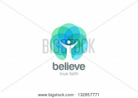 Church Faith Logo Pray Religion Monk Logotype Negative space