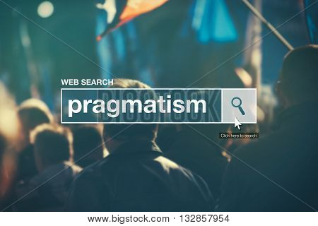 Web search bar glossary term - pragmatism definition in internet glossary.