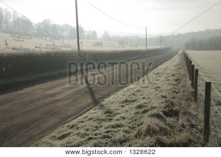Misty Monring On A Rural Road