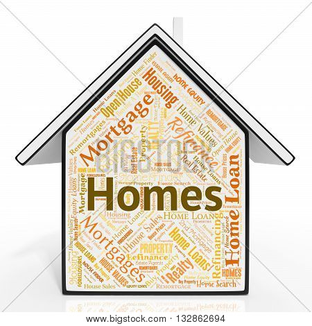 Homes House Means Real Estate And Realty