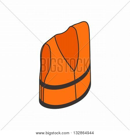 Life jacket icon in isometric 3d style isolated on white background. Clothing and salvation symbol