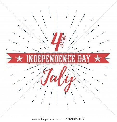 USA Independence Day vector illustration. 4th of July - stock vector.