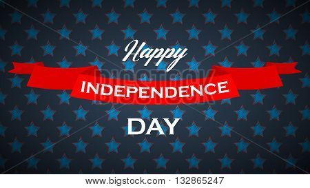 USA Independence Day vector background with stars, stripes and ribbon. 4th of july vector poster.