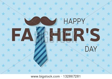 Happy Father's Day Greeting Card. Happy Father's Day Poster. Vector.