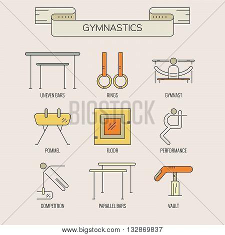 Set Of Gymnastics Icons