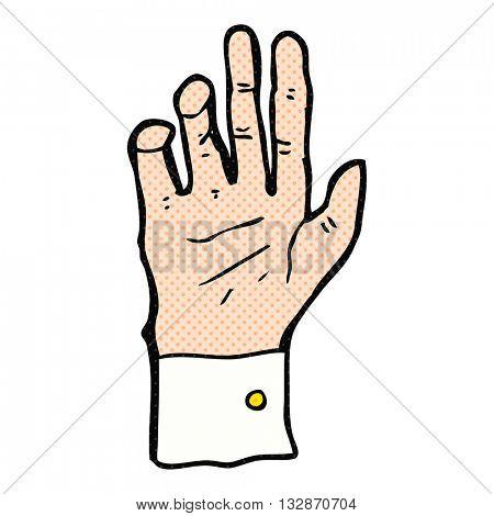 freehand drawn cartoon hand reaching