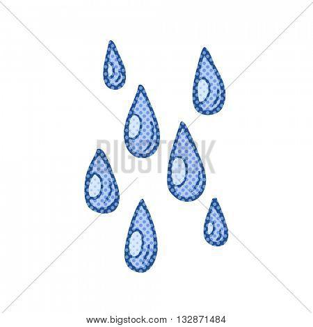 freehand drawn cartoon raindrops