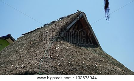 roof from a house on phi phi island