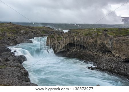 The Skjalfandafljot River is situated in the north of Iceland.The Skjalfandafljot River is situated in the north of Iceland.