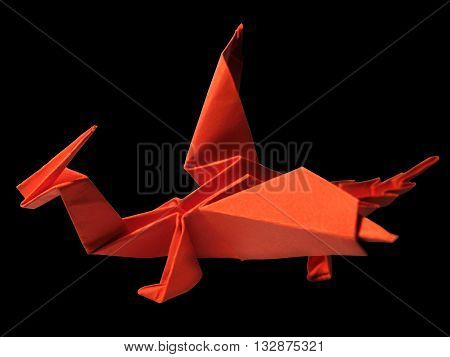 Origami traditional Japanese art make figure from paper