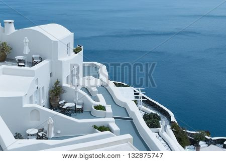 Beautiful view in Oia, Santorini, Cyclades, Greece