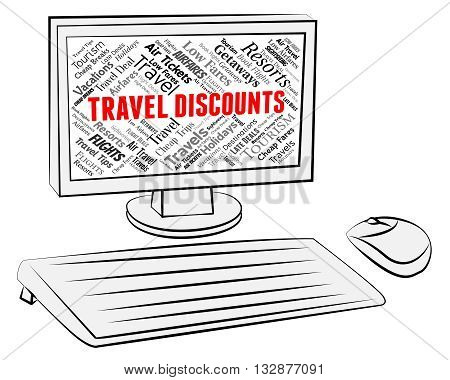 Travel Discounts Represents Travelling Vacations And Bargains