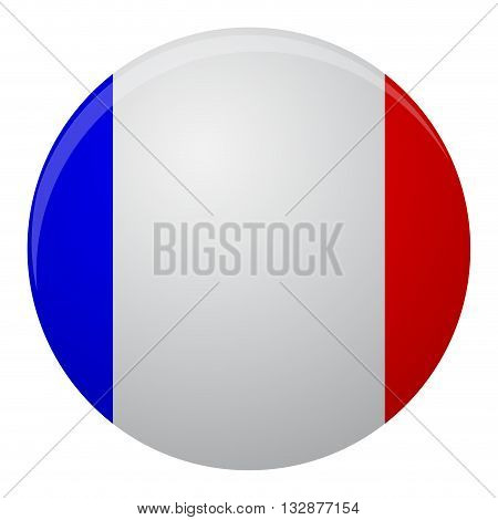 France flag icon flat. Country of flag symbol and national icon france vector illustration