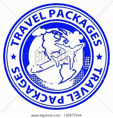 Travel Packages Indicates All Inclusive And Break