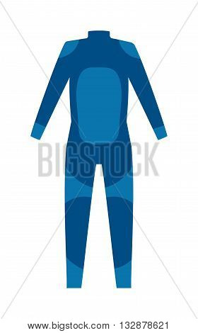 Diving suit for male vector and scuba suit underwater equipment. Diver sport sea water scuba suit and snorkeling leisure scuba suit. Marine snorkel person scuba suit fun tropical cloth.