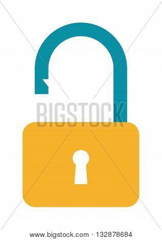 Unlock icon vector and unlock icon symbol. Security protection safety unlock icon and secret internet keyhole unlock icon. Unlock icon privacy element design, code private computer encryption protect.