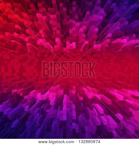 Background from extruded squares, Geometric background with squares, Background with 3d cubes and squares