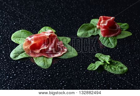 Jamon With Spinach