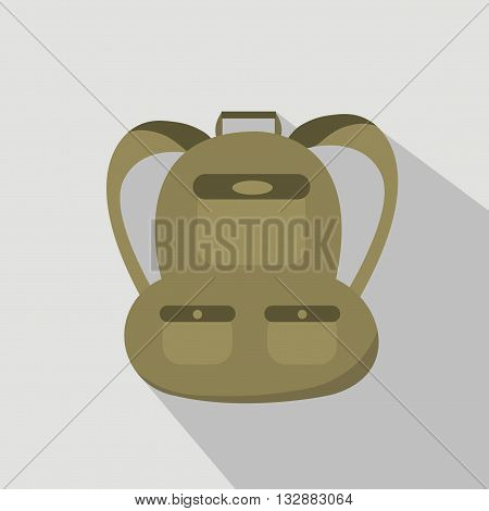 A backpack isolated on grey background. flat style trendy modern vector illustration