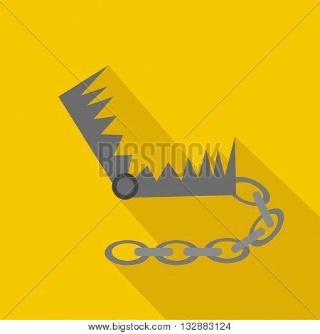 Hunting trap. Flat and cartoon style. Vector illustration. Hunting season.
